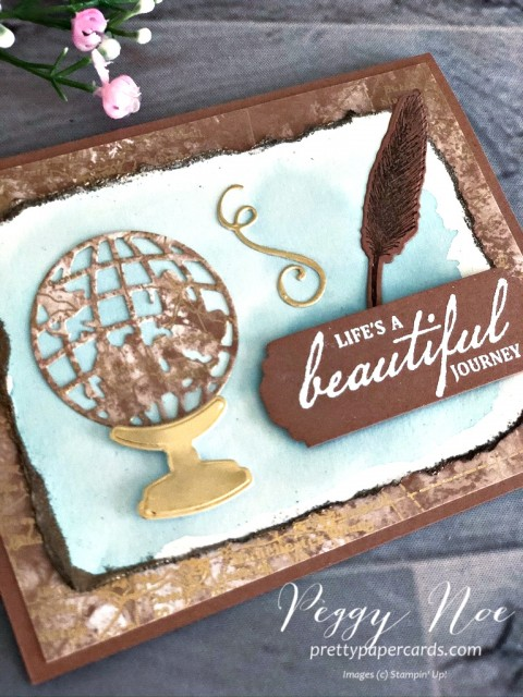 Beautiful World Card Stampin' Up! Peggy Noe