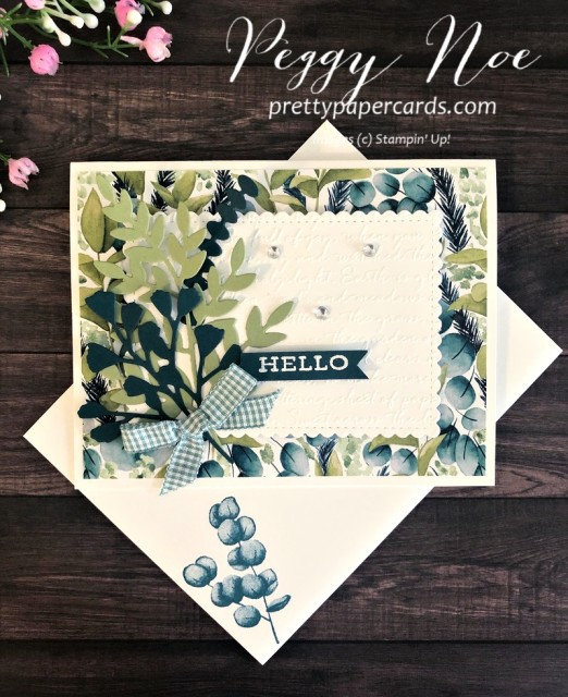 Forever Fern Hello Card Stampin' Up! Peggy Noe