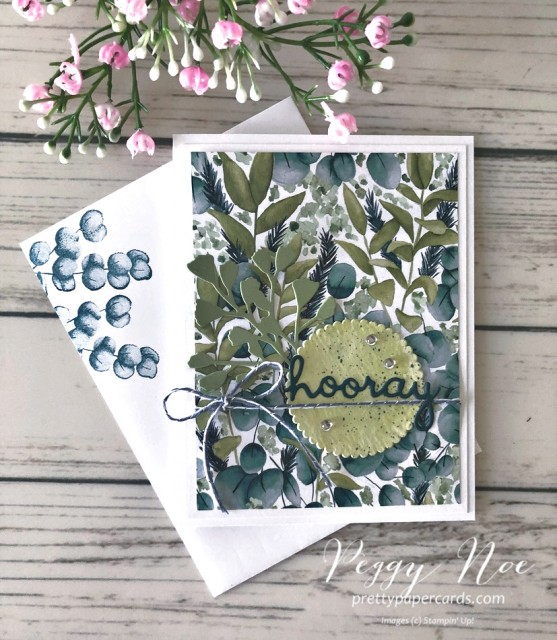 Hooray Forever Greenery Stampin' Up! Pretty Paper Cards