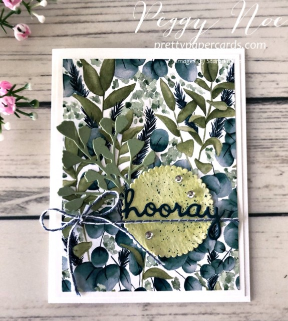 Hooray Greenery Card Stampin' Up! Peggy Noe