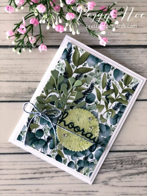 Hooray Greenery Stampin' Up! Pretty Paper Cards