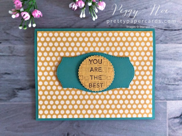 In Good Taste Card - Stampin' Up! Pretty Paper Cards