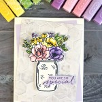 Jar of Flowers Card Stampin
