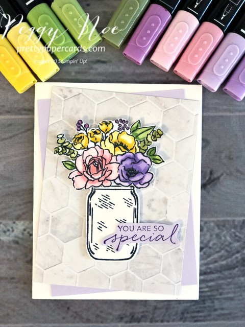 Jar of Flowers Card Stampin' Up! Peggy Noe