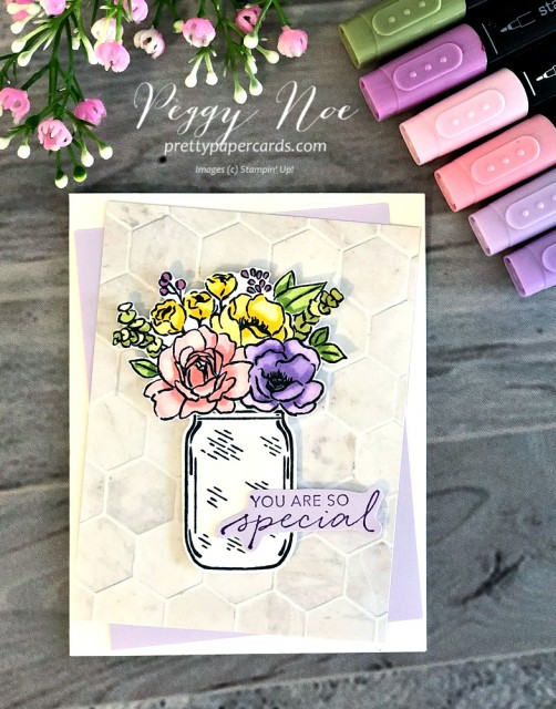 Jar of Flowers Stampin' Up! Peggy Noe
