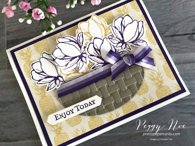Magnolia May Basket Stampin' Up! Peggy Noe