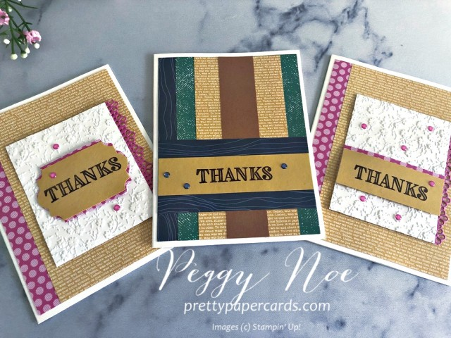 Ornate Thanks Stampin' Up! Peggy Noe