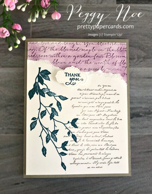 Versailles Thank You Stampin' Up! Pretty Paper Cards