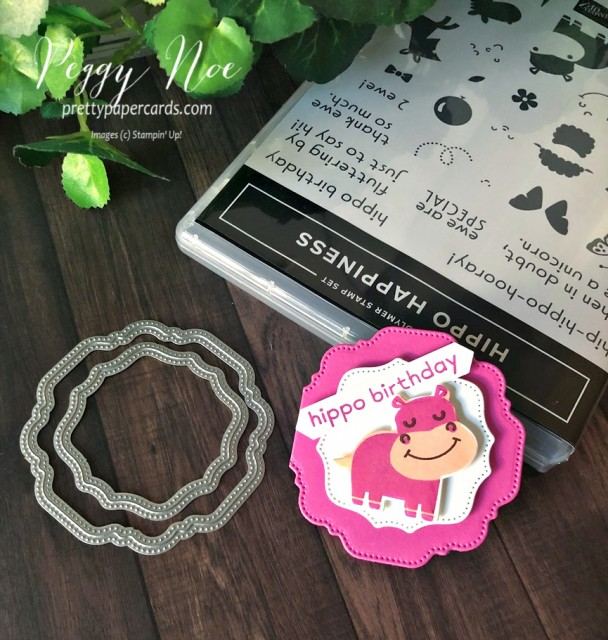 Hippo Happiness Stampin' Up! Pretty Paper Cards