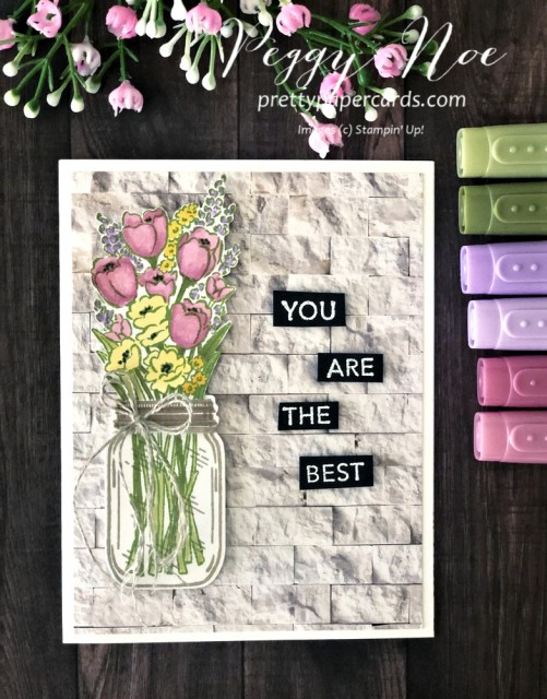 Jar of Flowers Card Stampin' Up! Pretty Paper Cards