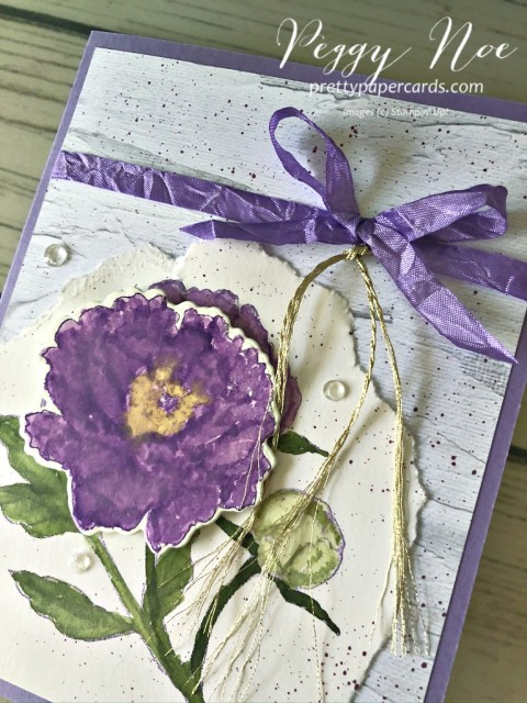 Prized Peony Card Stampin' Up! Peggy Noe