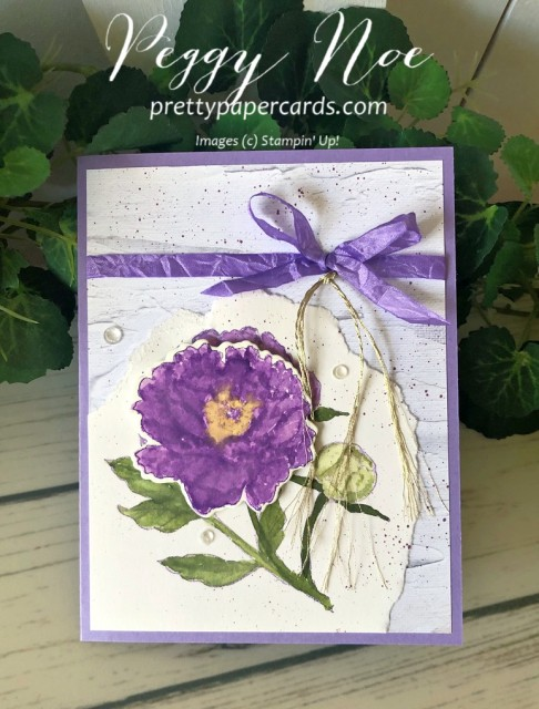Prized Peony Card Stampin' Up! Pretty Paper Cards