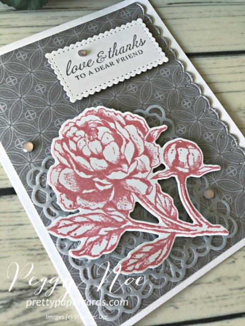 Prized Peony Thank You Card Pretty Paper Cards