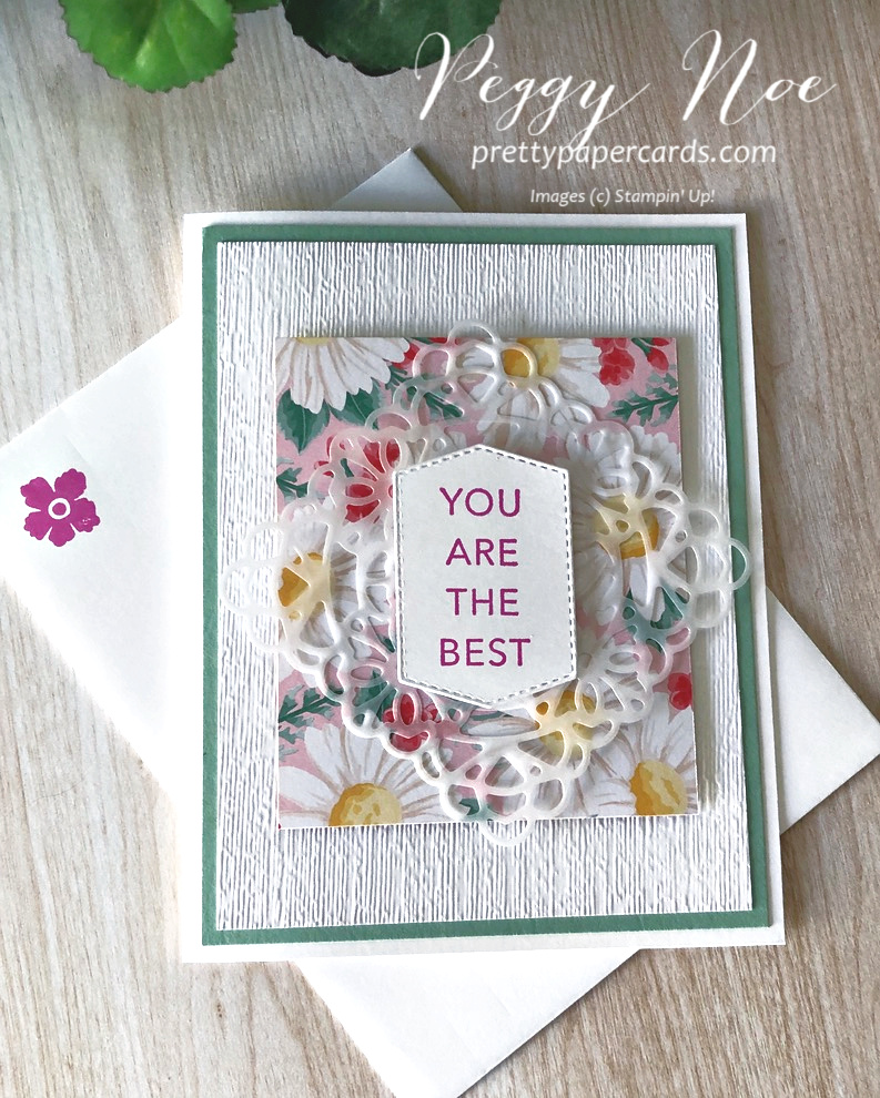 FREE TUTORIAL: Tasteful Touches Floral Card!