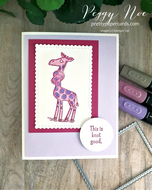 Back on Your Feet Card Stampin' Up! Peggy Noe