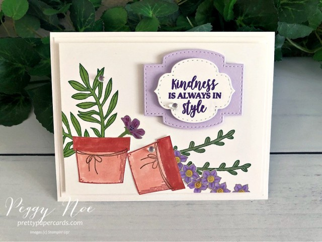 Basket of Blooms Card Stampin' Up! Pretty Paper Cards