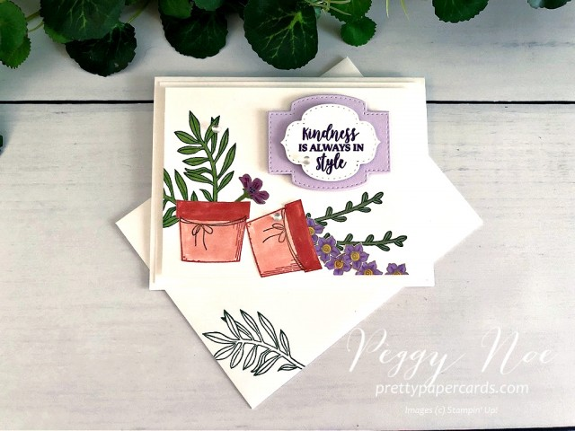 Basket of Blooms Stampin' Up! Peggy Noe