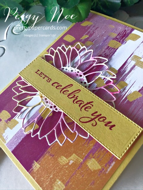 Celebrate Sunflowers Card Stampin' Up! Peggy Noe
