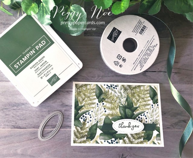 Forever Greenery Card Stampin' Up! Peggy Noe