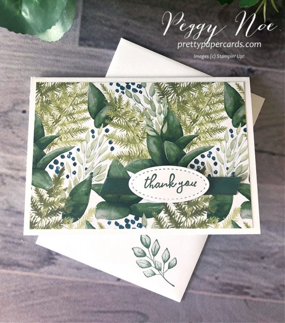 Forever Greenery Card Stampin' Up! Pretty Paper Cards