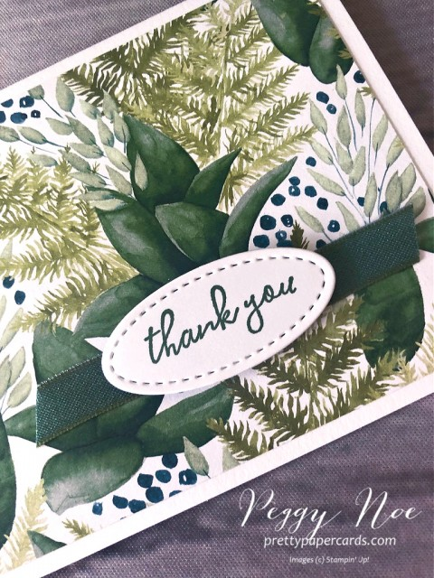 Forever Greenery Thank You Stampin' Up! Peggy Noe