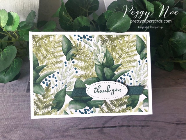 Forever Greenery Thank You Stampin' Up! Pretty Paper Cards