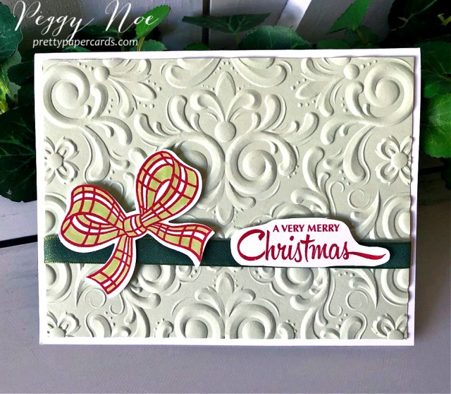 Gift Wrapped Card Stampin' Up! Peggy Noe