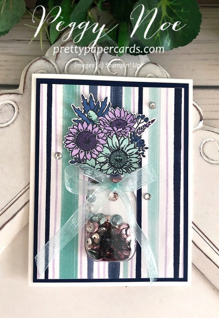 Jar of Flowers Shaker Card Stampin' Up! Pretty Paper Cards