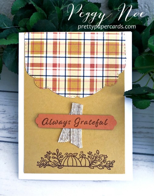 Plaid Tidings Card Stampin' Up! Peggy Noe