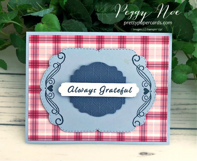 Plaid Tidings Card Stampin' Up! Pretty Paper Cards