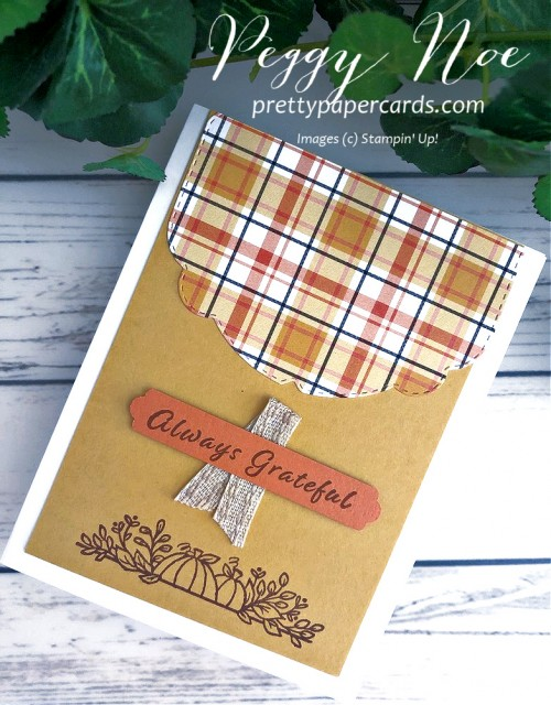 Plaid Tidings Stampin' Up! Pretty Paper Card