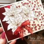 Poinsettia Place Card Peggy Noe