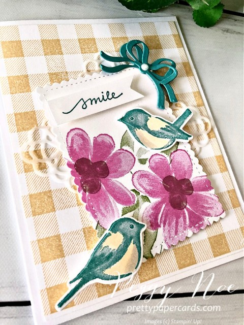 Stampin' Up! Card Gorgeous Posies Peggy Noe