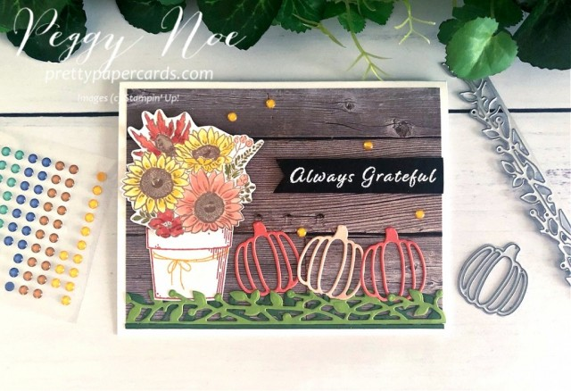 Autumn Greetings Stampin' Up! Pretty Paper Card
