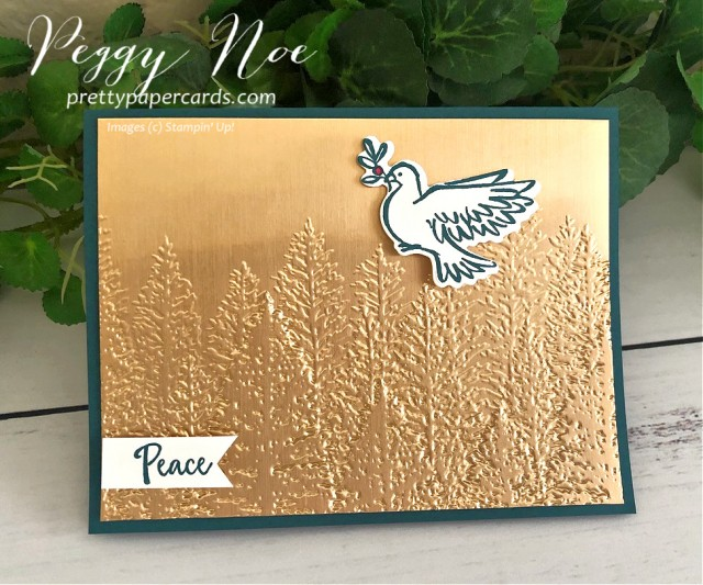 Evergreen Brass Dove Stampin' Up! Pretty Paper Cards