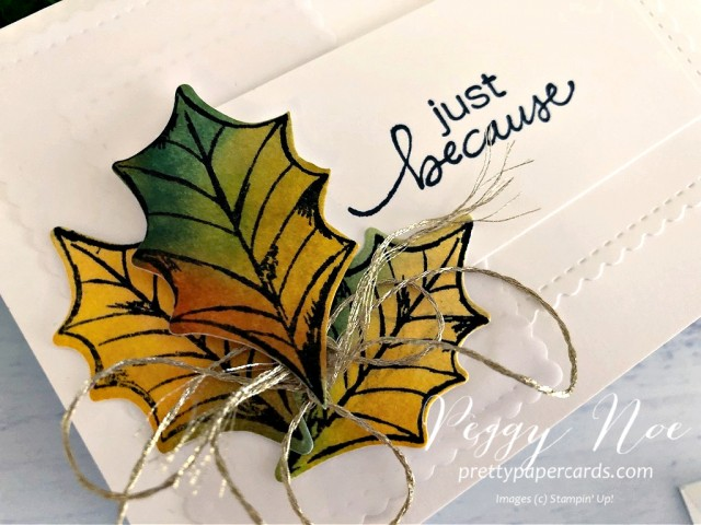 Fall Notecard Stampin' Up! Peggy Noe