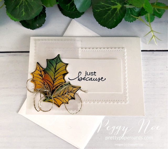 Fall Notecard Stampin' Up! Pretty Paper Cards