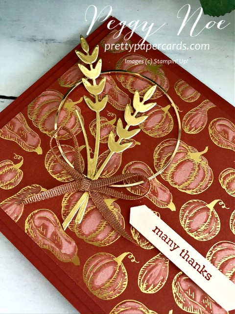Gilded Autumn Essentials Card Stampin' Up! Peggy Noe