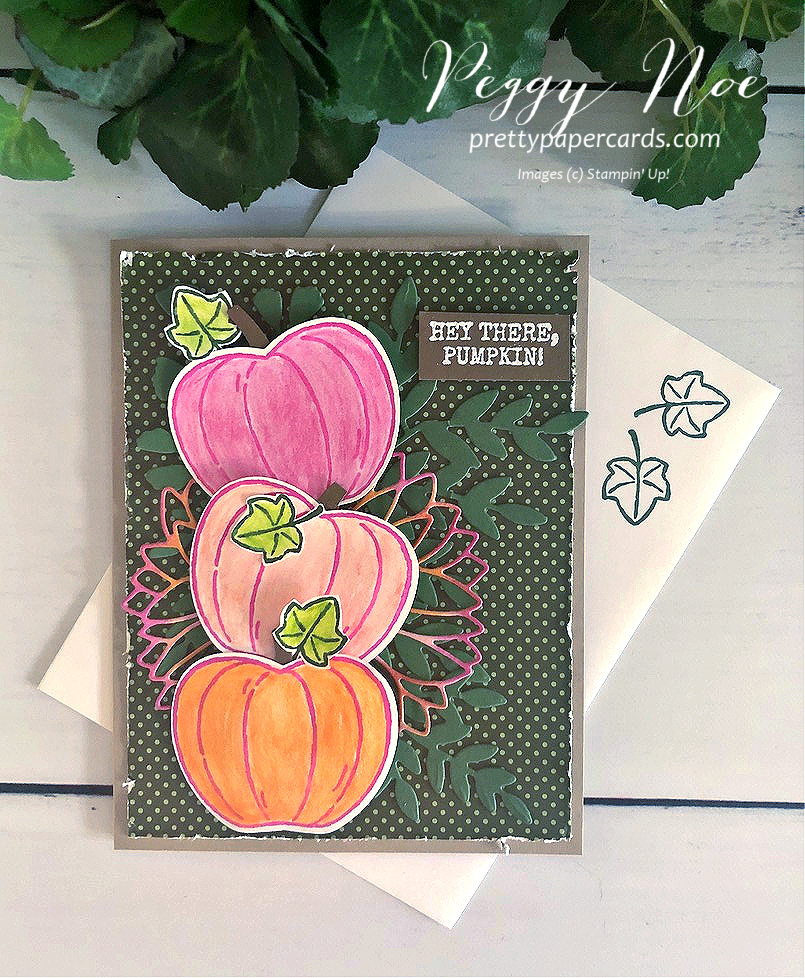 Pink Pumpkin Tower with Harvest Hellos!