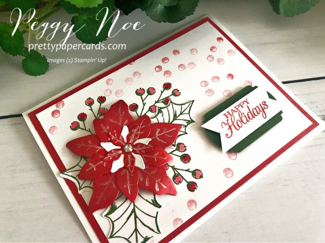 Poinsettia Petals Card Stampin' Up! Pretty Paper Cards