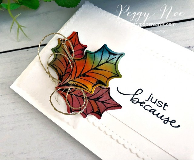 Poinsettia Petals Fall Stampin' Up! Peggy Noe