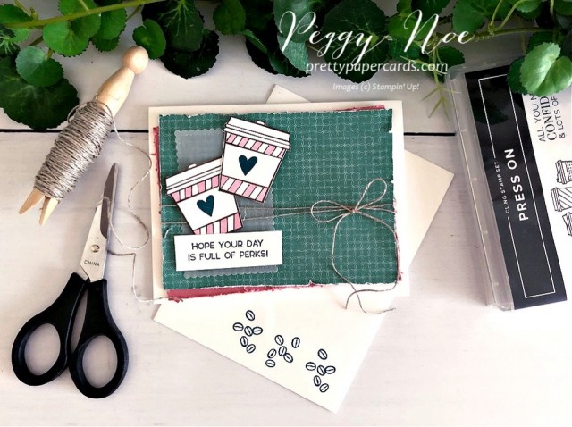 Press On Card Stampin' Up! Peggy Noe