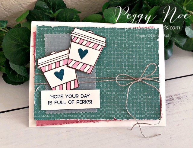 Press On Card Stampin' Up! Pretty Paper Cards