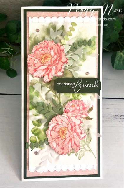 Prized Peony Friend Card Stampin' Up! Peggy Noe