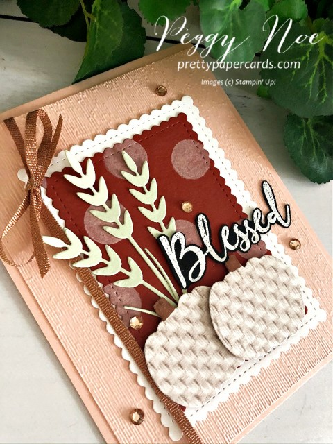 #toawildrose #blessed #autumngreetings #fallcard #pumpkins #peggynoe #prettypapercards #stampinup