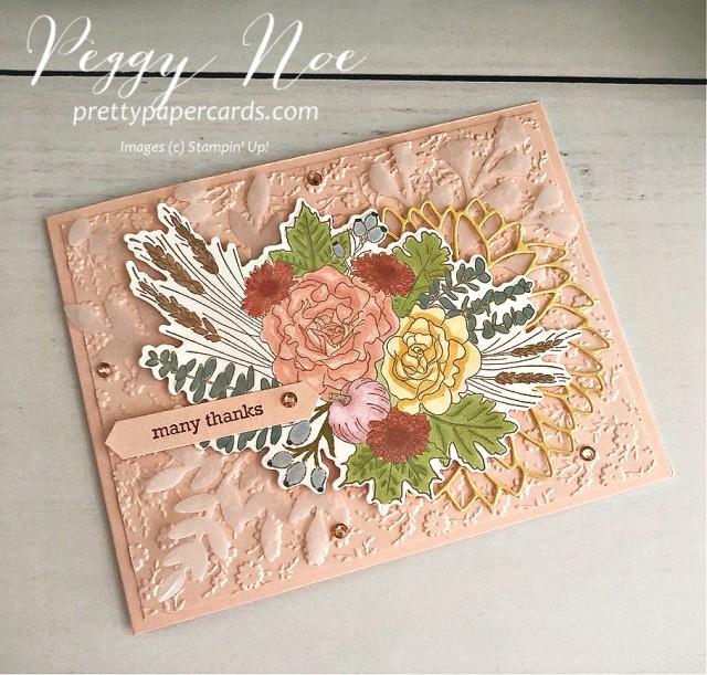 #autumngreetingsbundle #fallcard #stampinup #peggynoe #prettypapercards #thankyou
