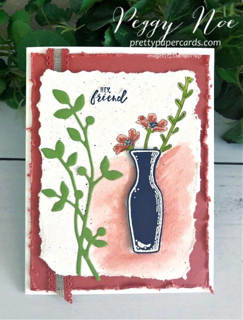 #peggynoe #prettypapercards #stampinup #stampingup #undermyumbrella #basketofblooms #beautifulfriendship