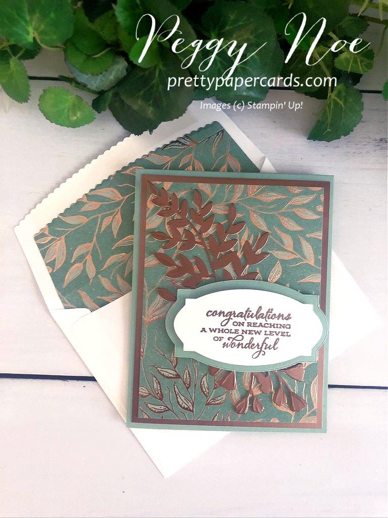 Gilded Autumn Congratulations Card!