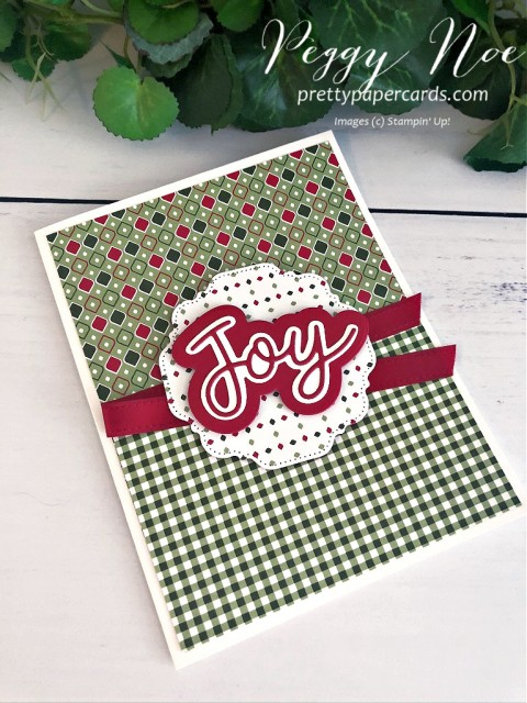 Joy Holiday Card Stampin' Up! Peggy Noe