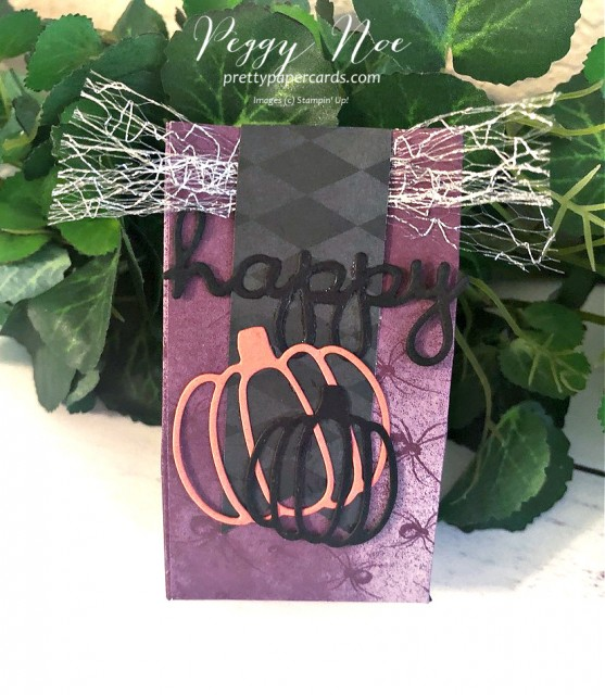 #minitreatbags #musicinthenight #halloweenminitreatbags #stampinup #peggynoe #prettypapercards